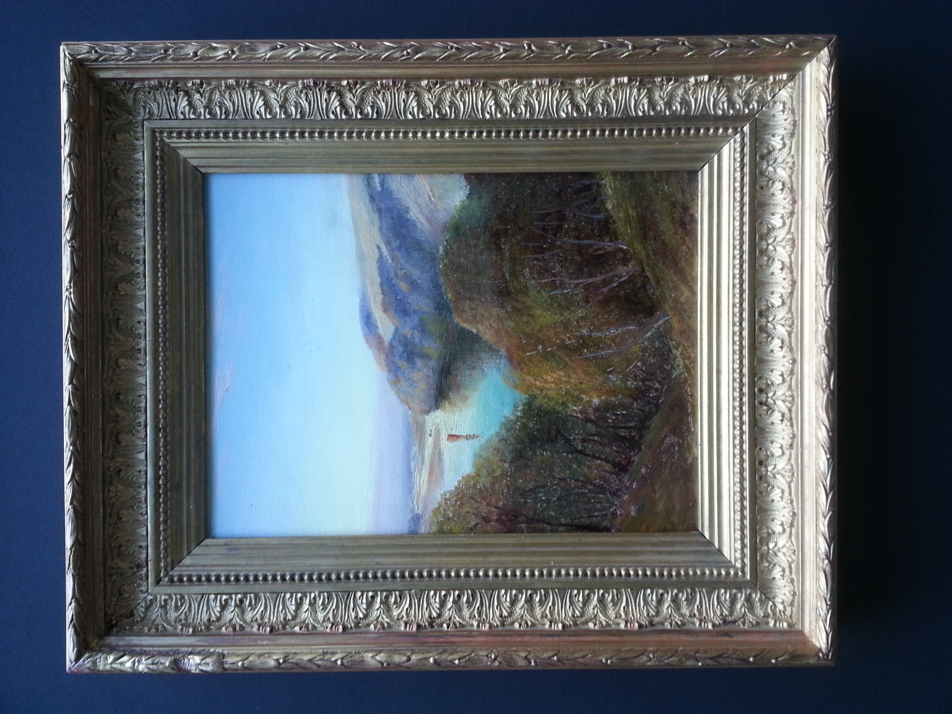 "View from atop The Palisades    Oil on Panel  10 1/2"" x 8"" / 14"" x 11 1/2"" Framed    Price Available Upon Request"