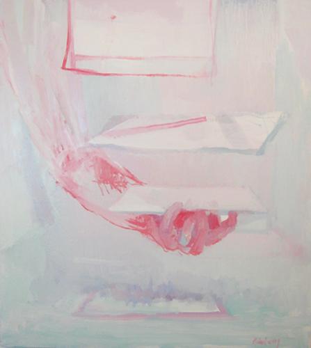 Kimberly Trowbridge ( American )    Shuffle   Oil on Canvas    $1,400 ( Framed )