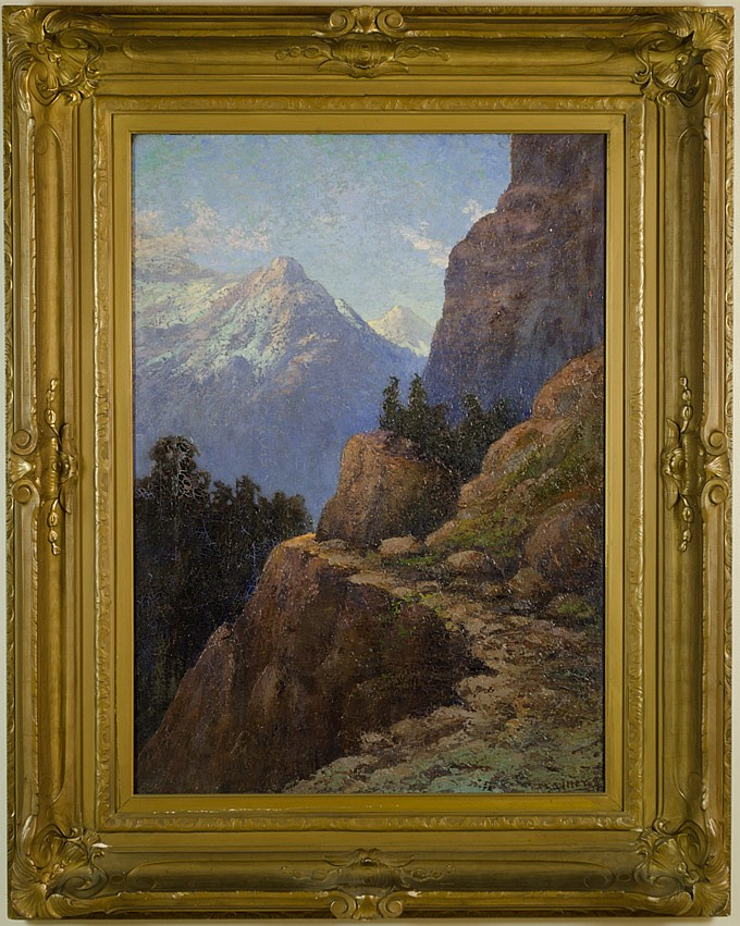 "Lake Chelan Mountain Region Landscape    Oil on Canvas, Signed ( l.r. ) ""Itter""   36""x 26"" / 48 3/4"" x 38 3/4"" Framed ( Period Frame )     SOLD"