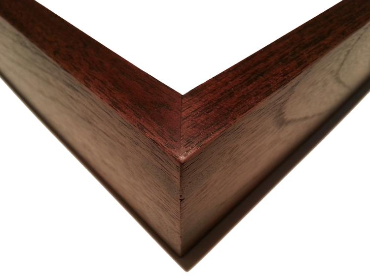 """700 Walnut, Double Wood-Splined Corners    1/2"""" (W) FACE x 1 1/2"""" (D) DEEP O.D."""