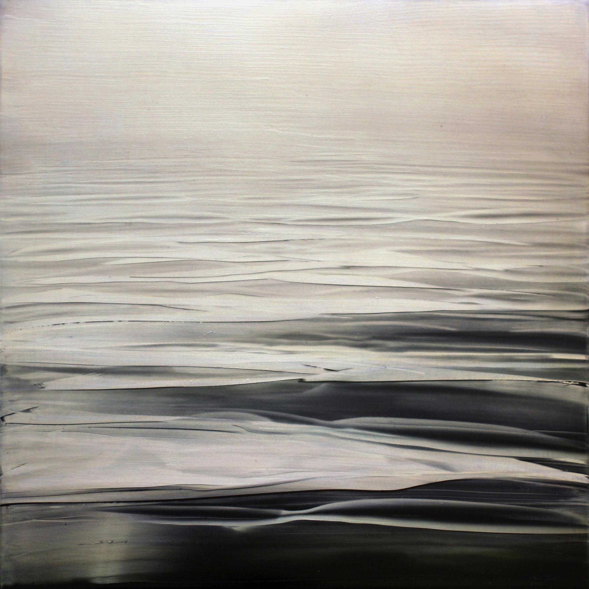 "Brian Sostrom ( American, Idaho )  Silver Distance (2017)  Acrylic on Panel  20"" x 20""  $1,400"