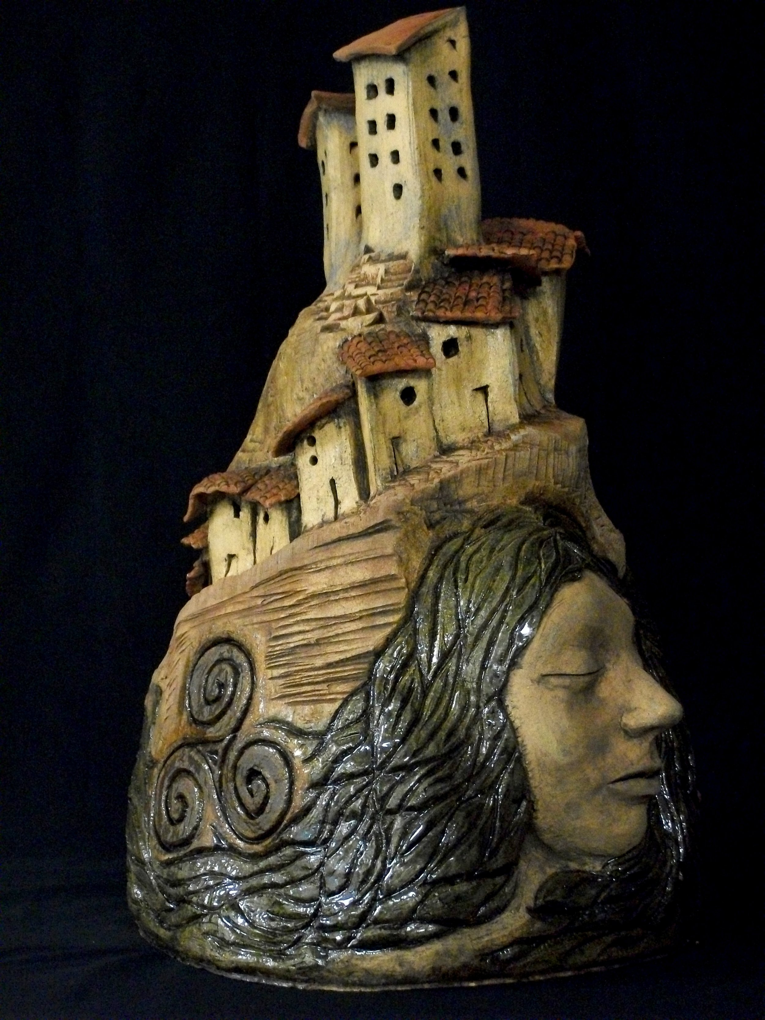Carla San Martin  Progress  Glazed Ceramic  $2,000