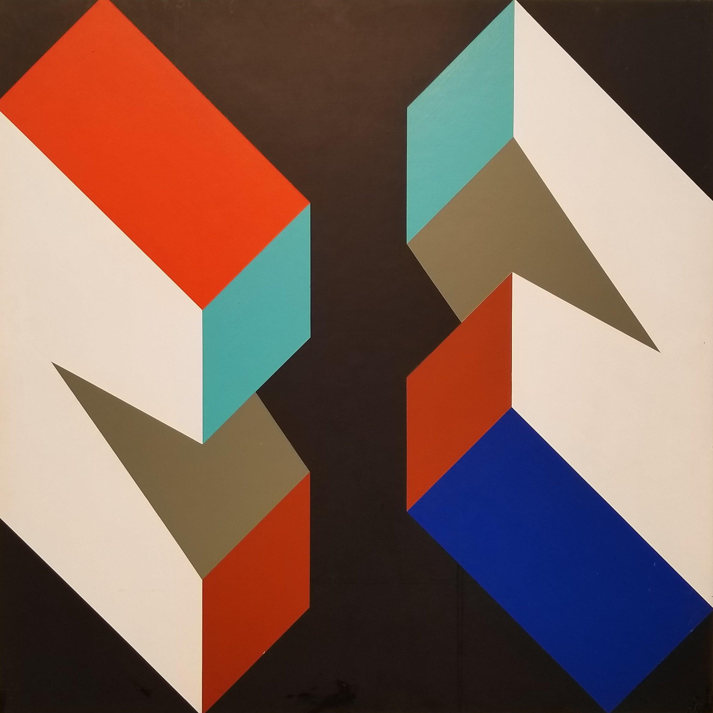 "Richard F. Dahn (American, b. 1932)     Color Structure  (1969)    Acrylic on Panel    24"" x 24""    $3,750"