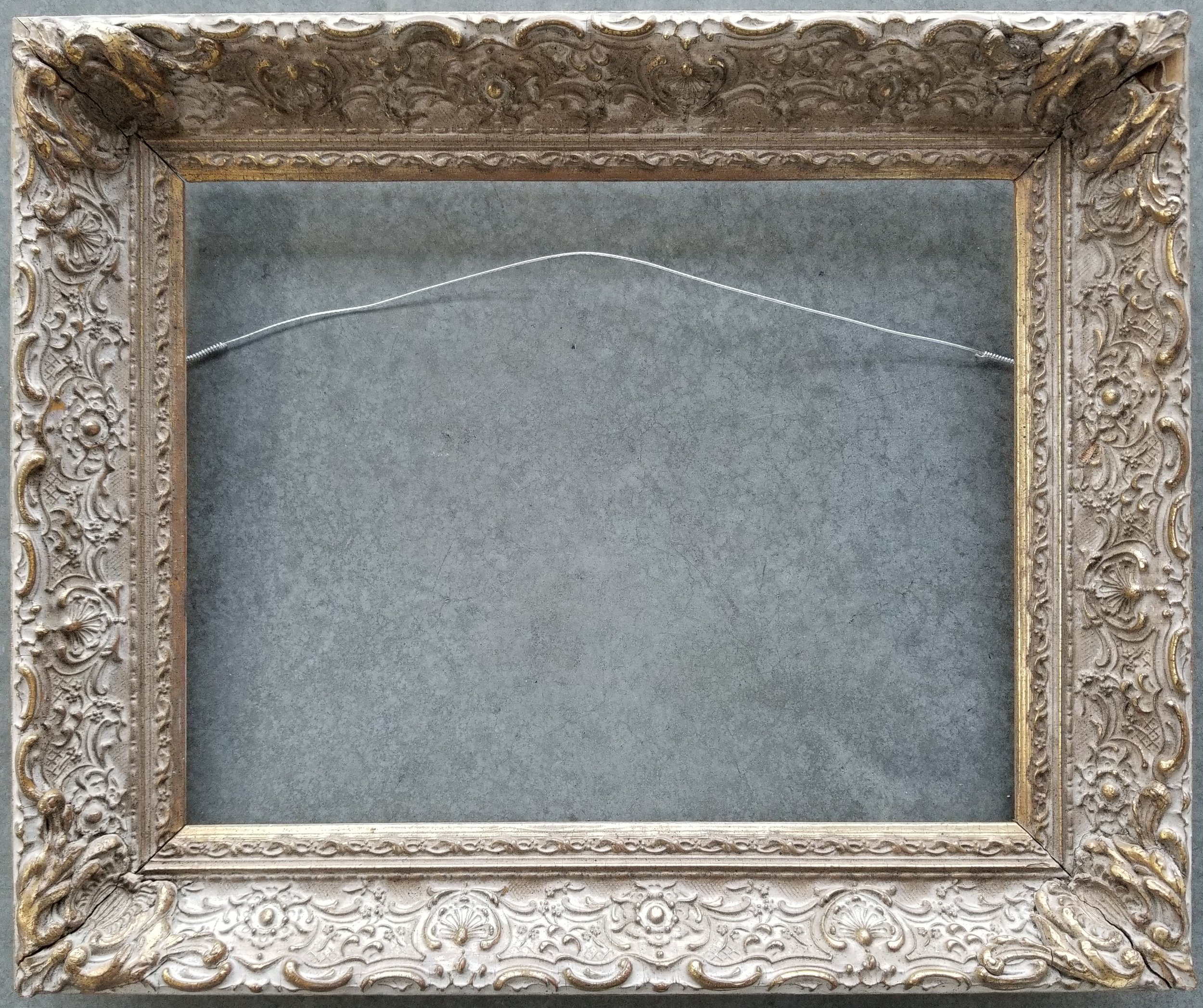"Antique Frame / Opening 11 1/8"" x 14 1/8"" / O.D. 15"" x 18""    $650"