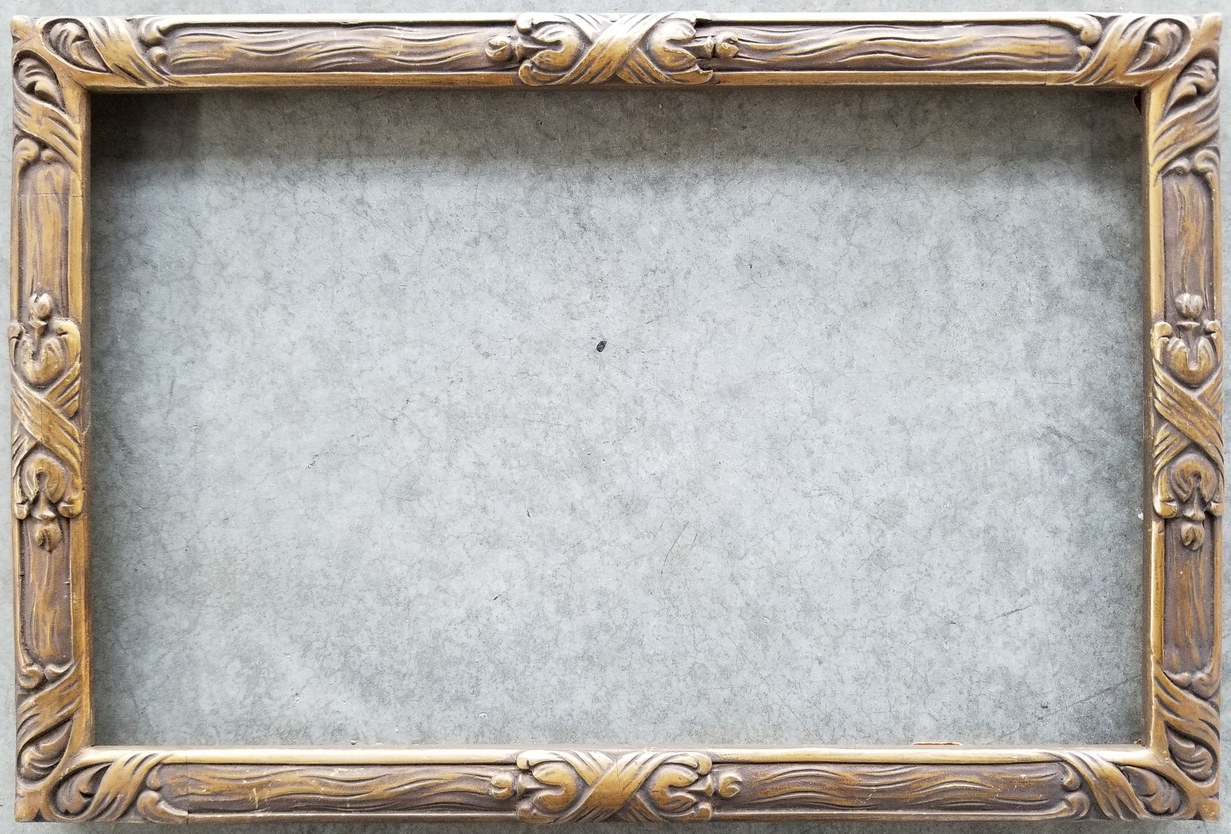 "Antique Frame / Opening 7 1/8"" x 11 1/8"" / O.D. 8"" x 12""    $375"