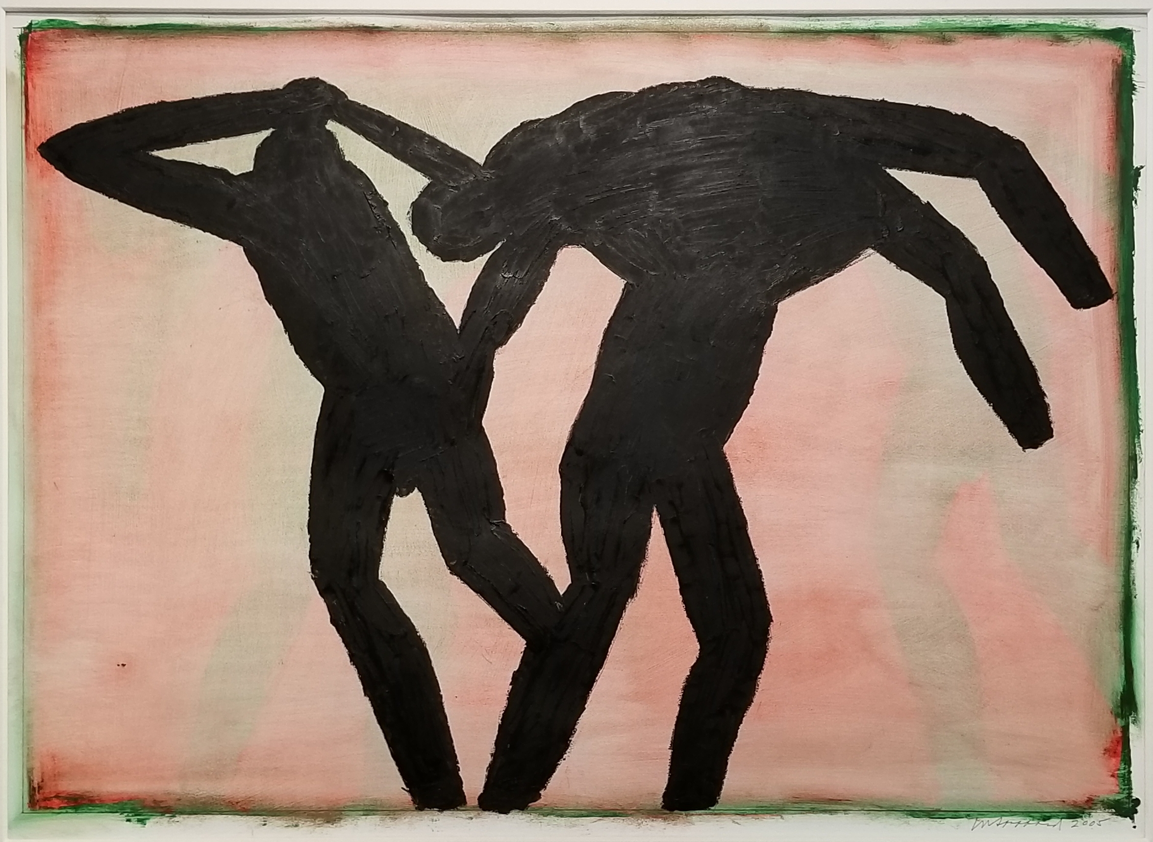 """Michael C. Spafford (American, b. 1932)  The Iliad: Three Figures #1 (2005)  Oil on Paper  30"""" x 40""""  Price Available Upon Request"""