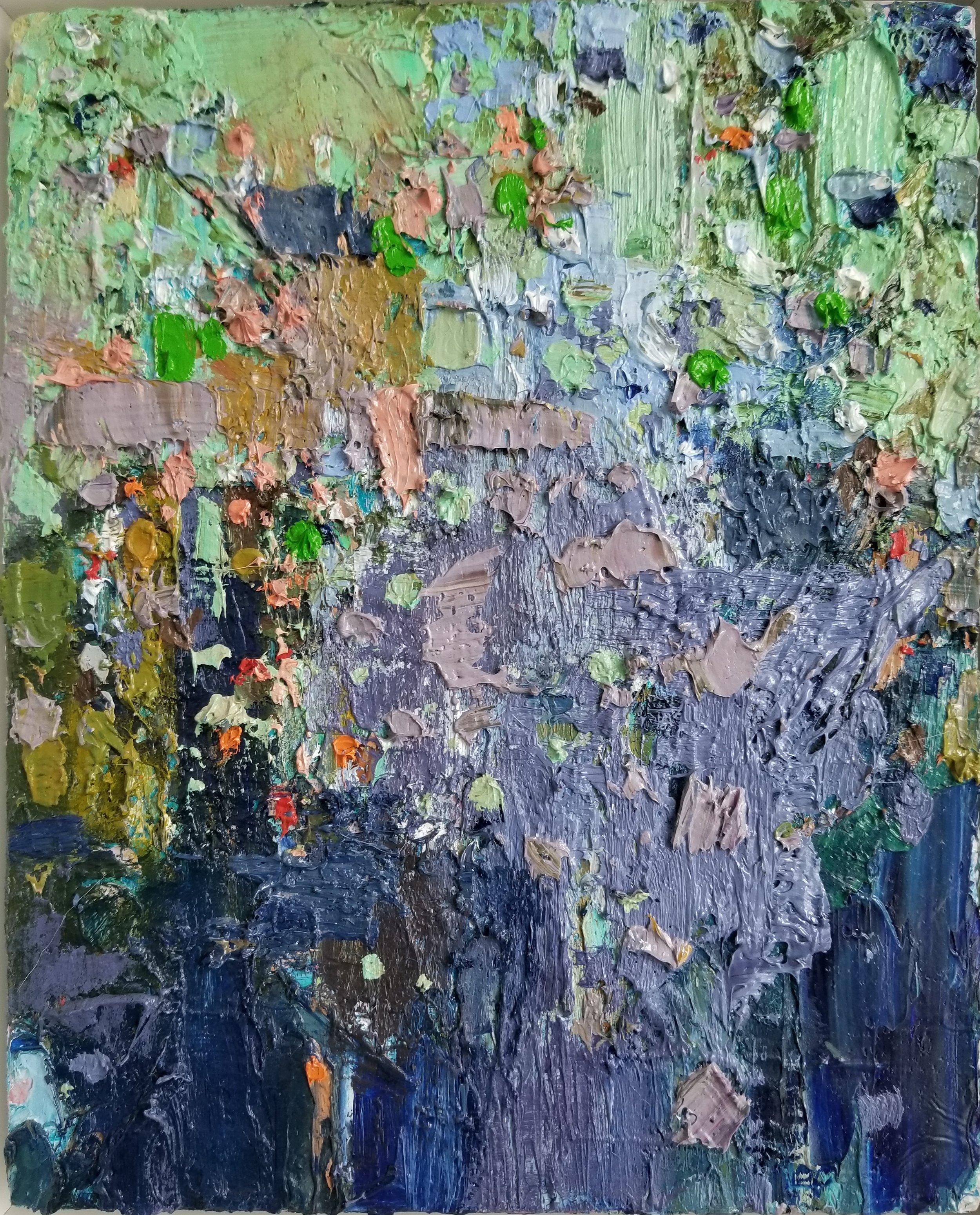 """Jenny Vorwaller (American, Washington)     Untitled  (2016)    Oil on Canvas, Framed    10"""" x 8""""    $425"""