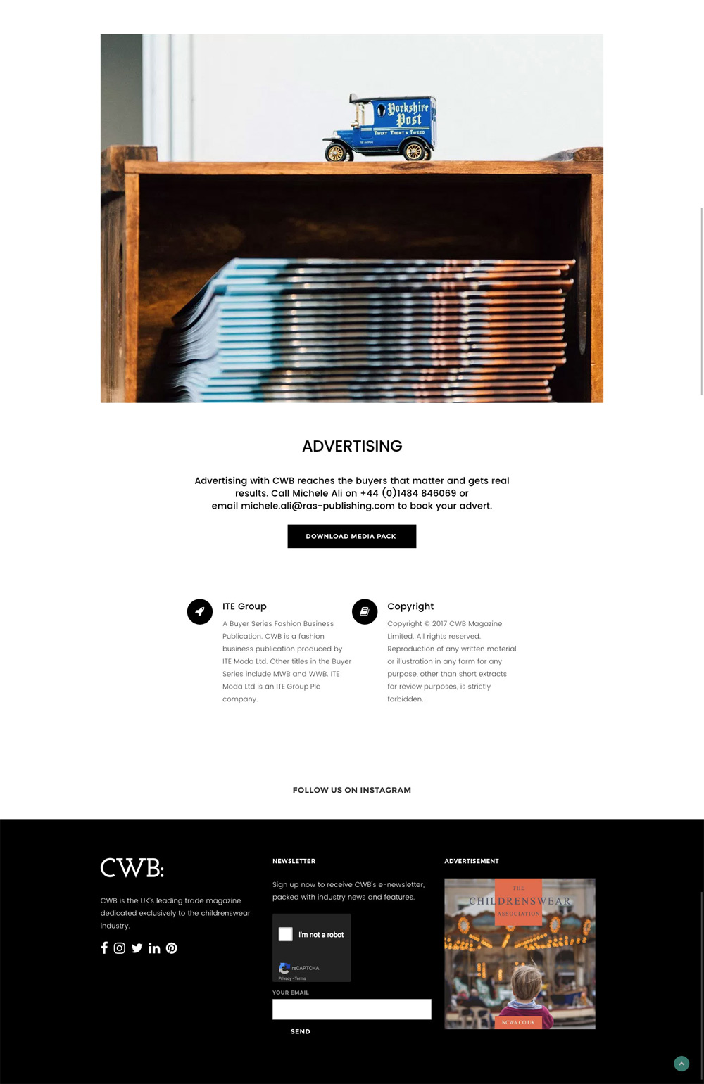 CWB Advertising page