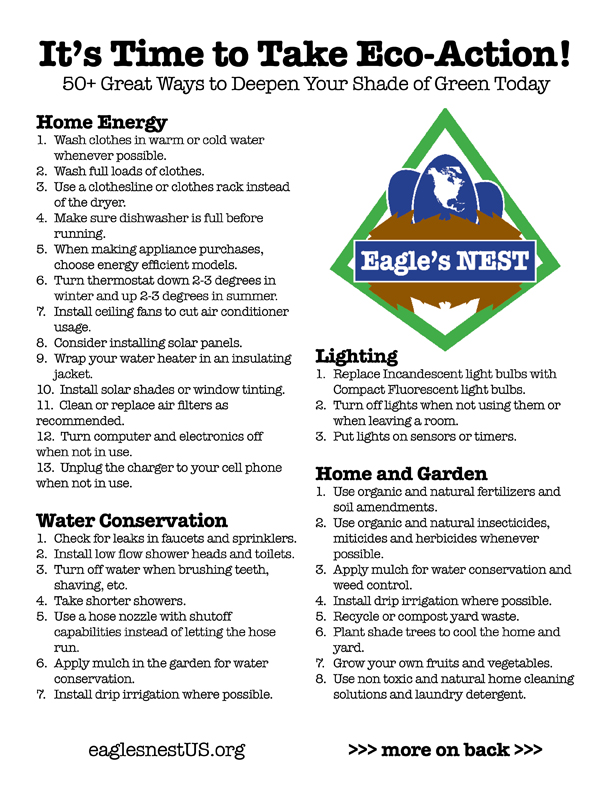 50+ Eco-Action Tips Handout