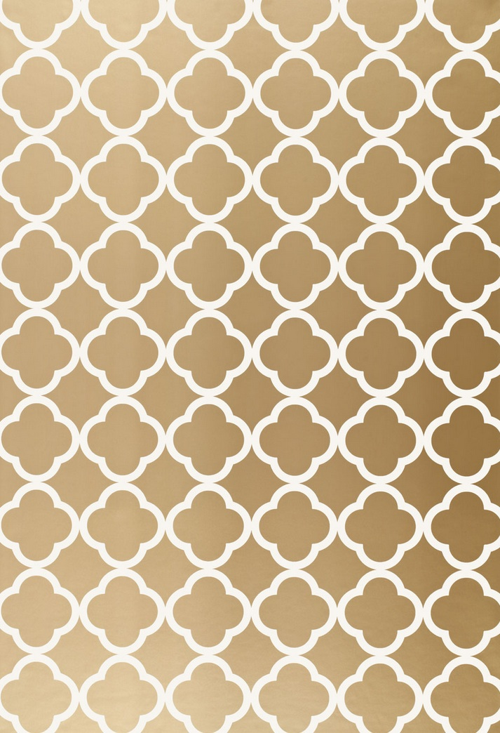 Wallcovering Schumacher Morocco Antique Gold