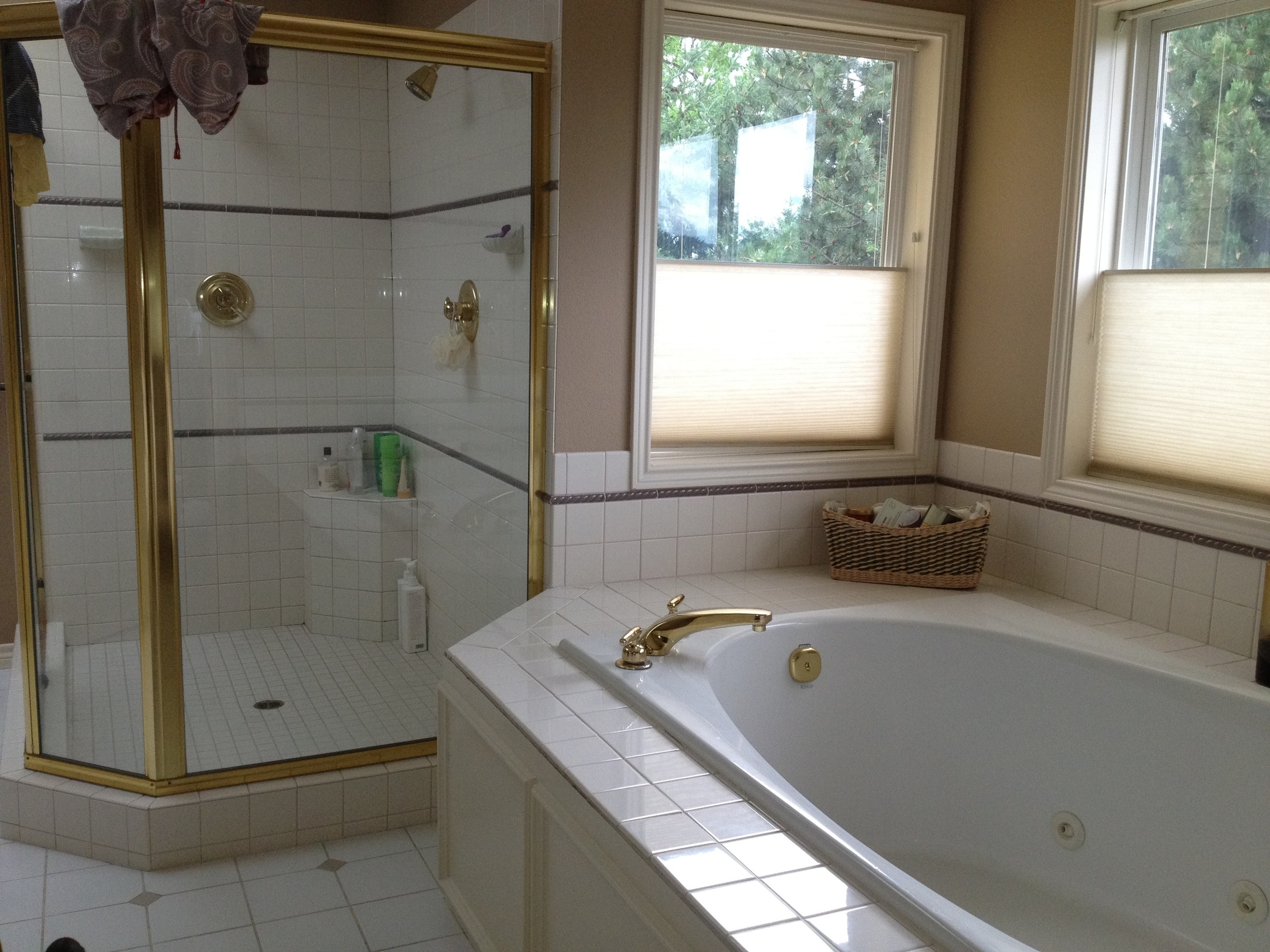 BEFORE: The built-in tub took up so much room