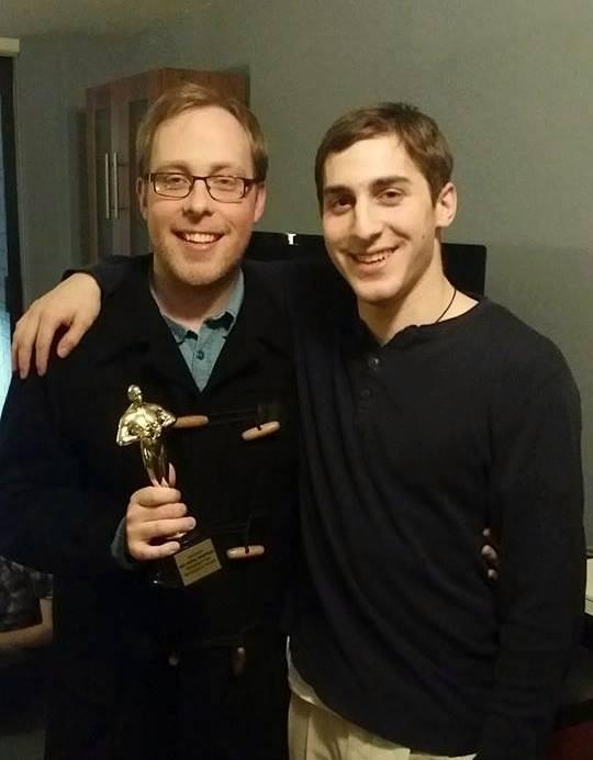Aaron with Director Brian Blum