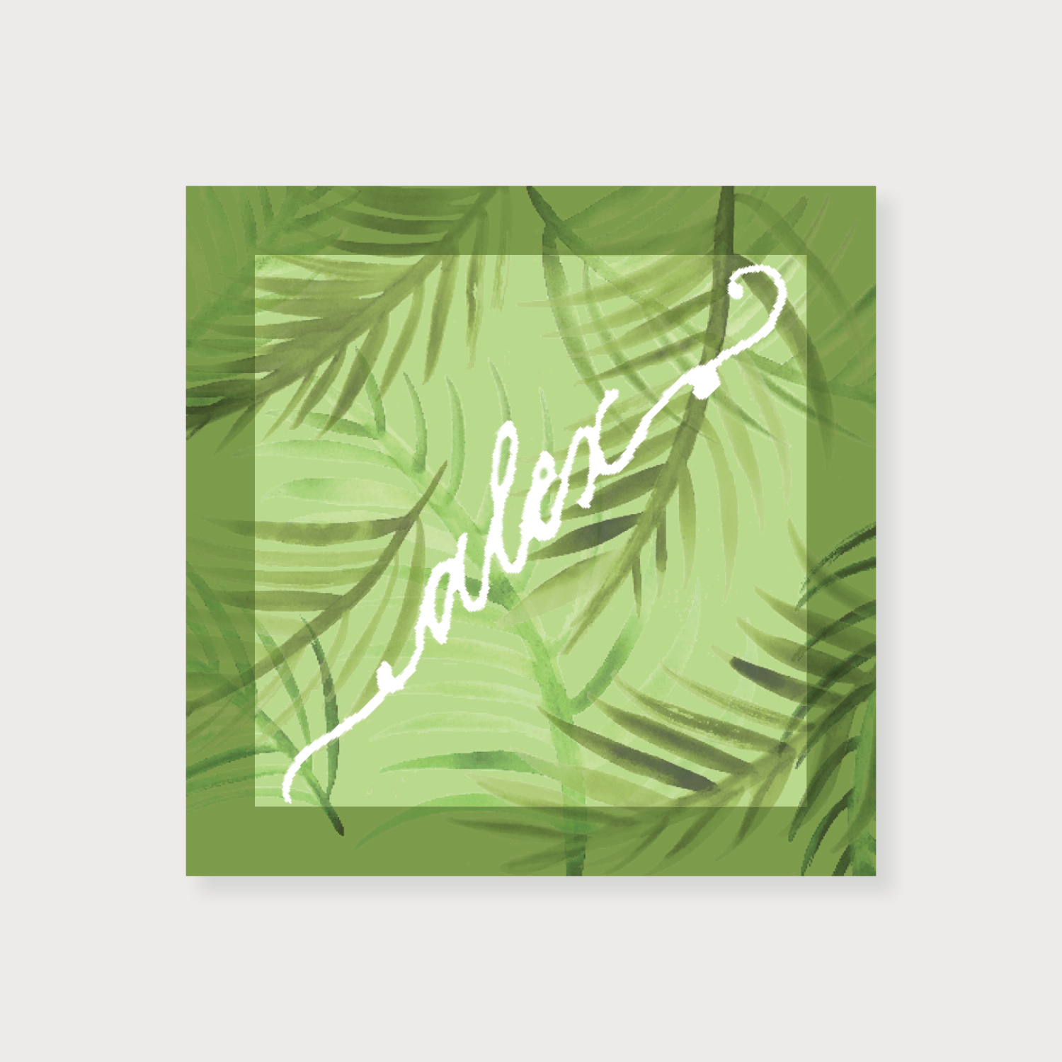 Palm Frond Calling Card   more colors...