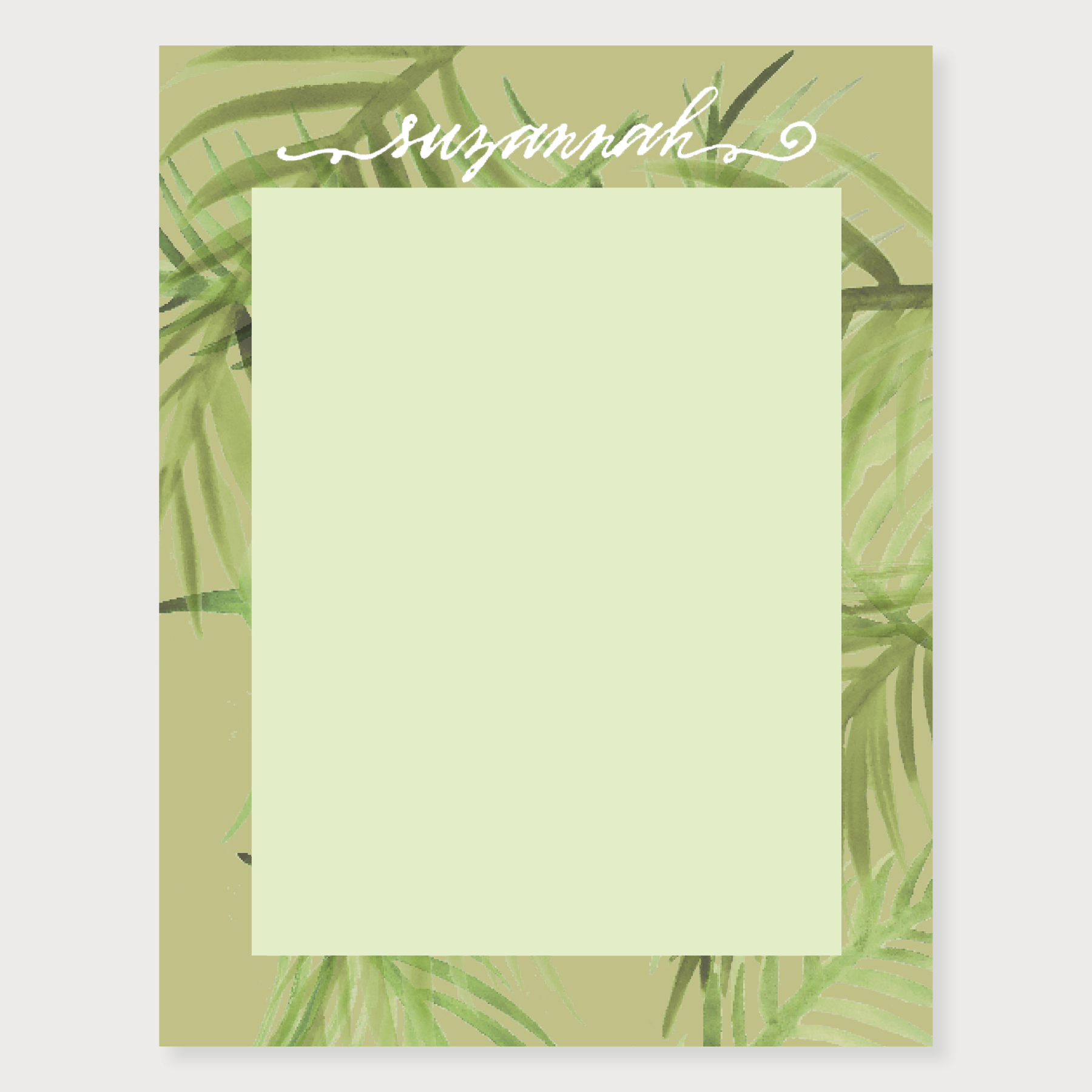Palm Frond Note Card   more colors...