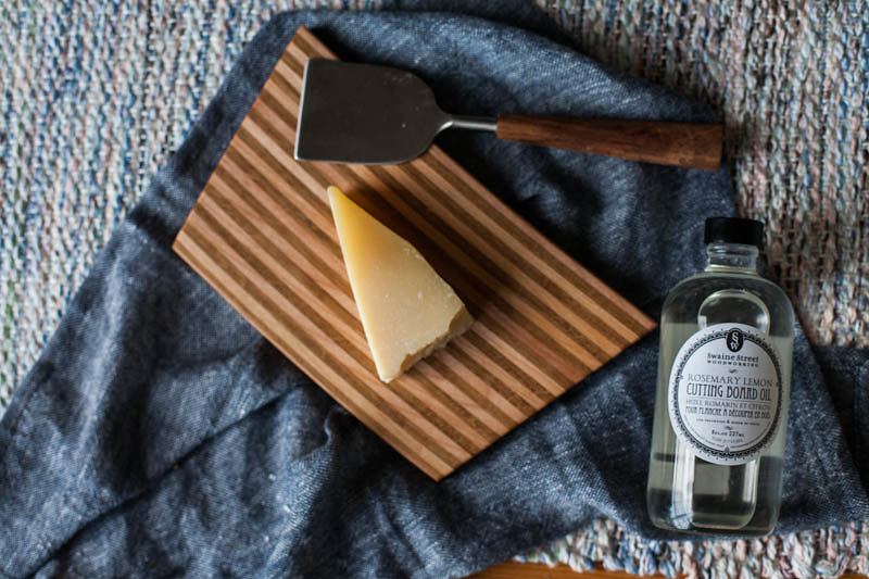 Handmade Cutting or Serving Board with Rosemary Lemon Cutting Board Oil