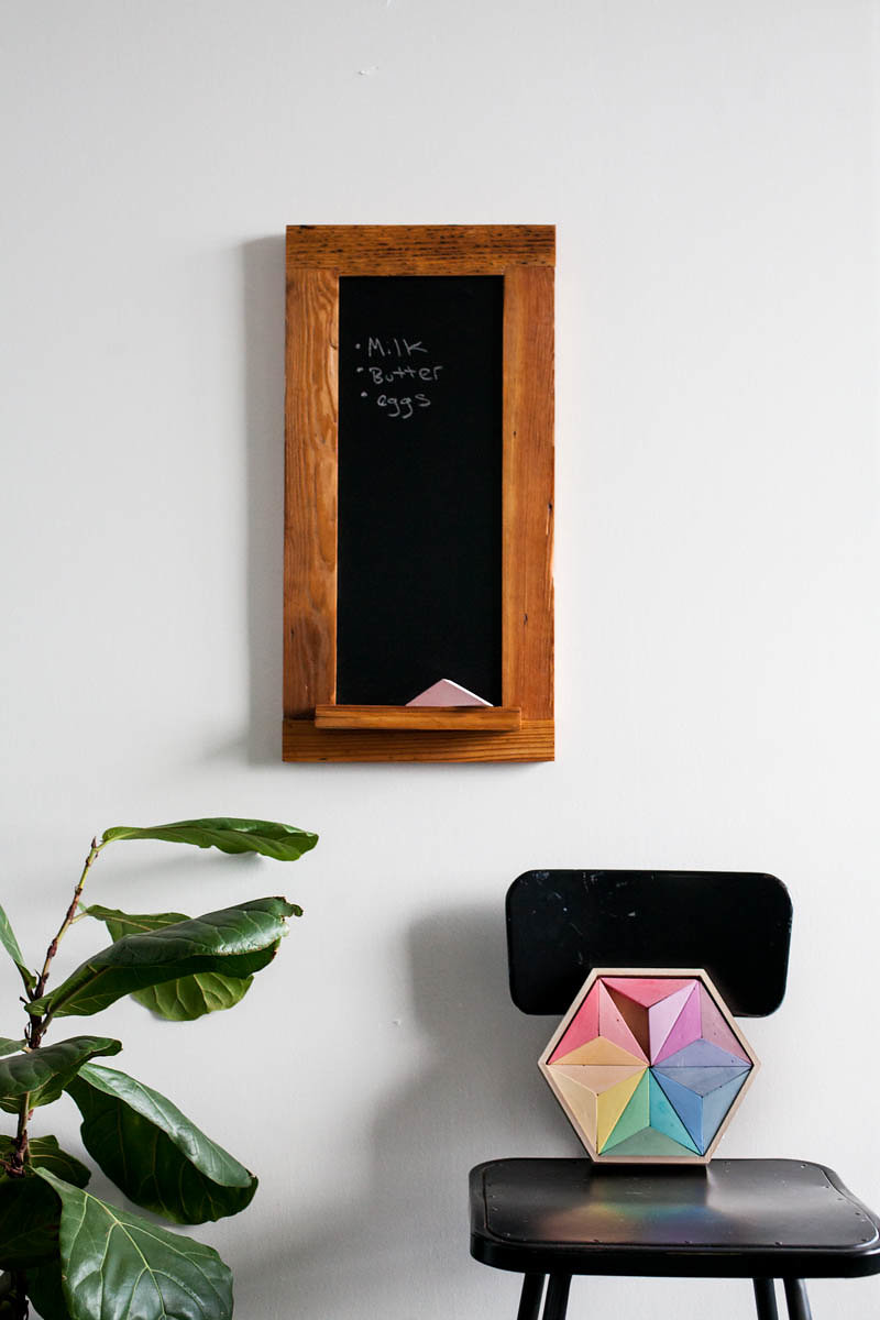 Handmade Reclaimed Wood Chalkboard and Full Spectrum Chalk Set