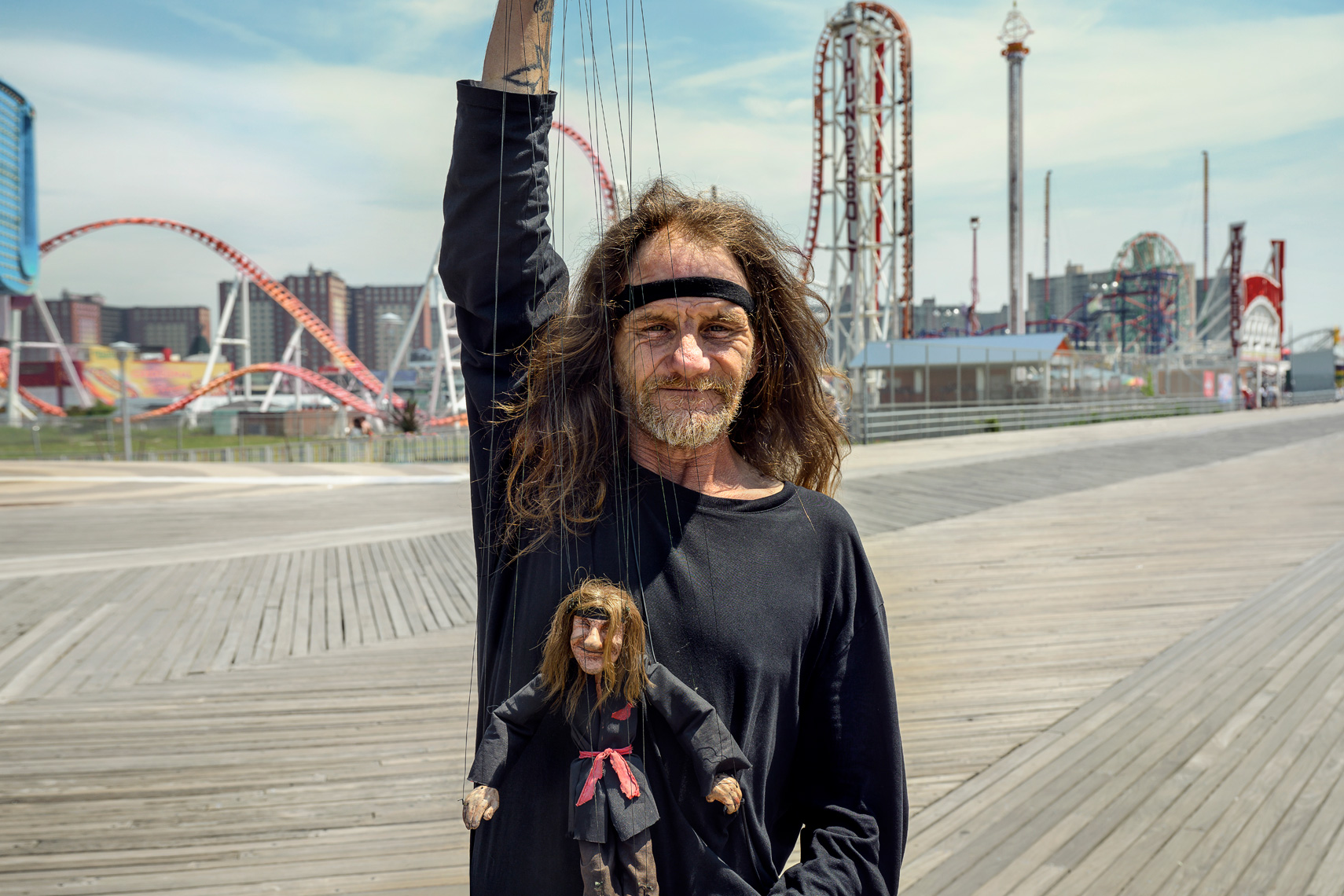 Larry The Birdman and his marionette