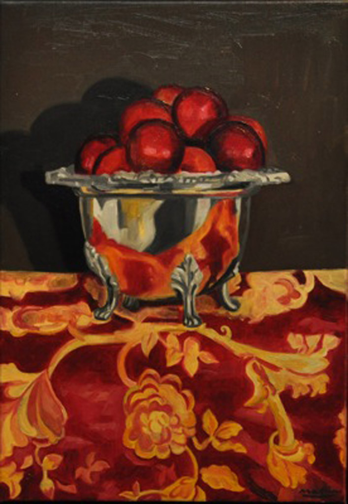 Plums, Compotier and Drape