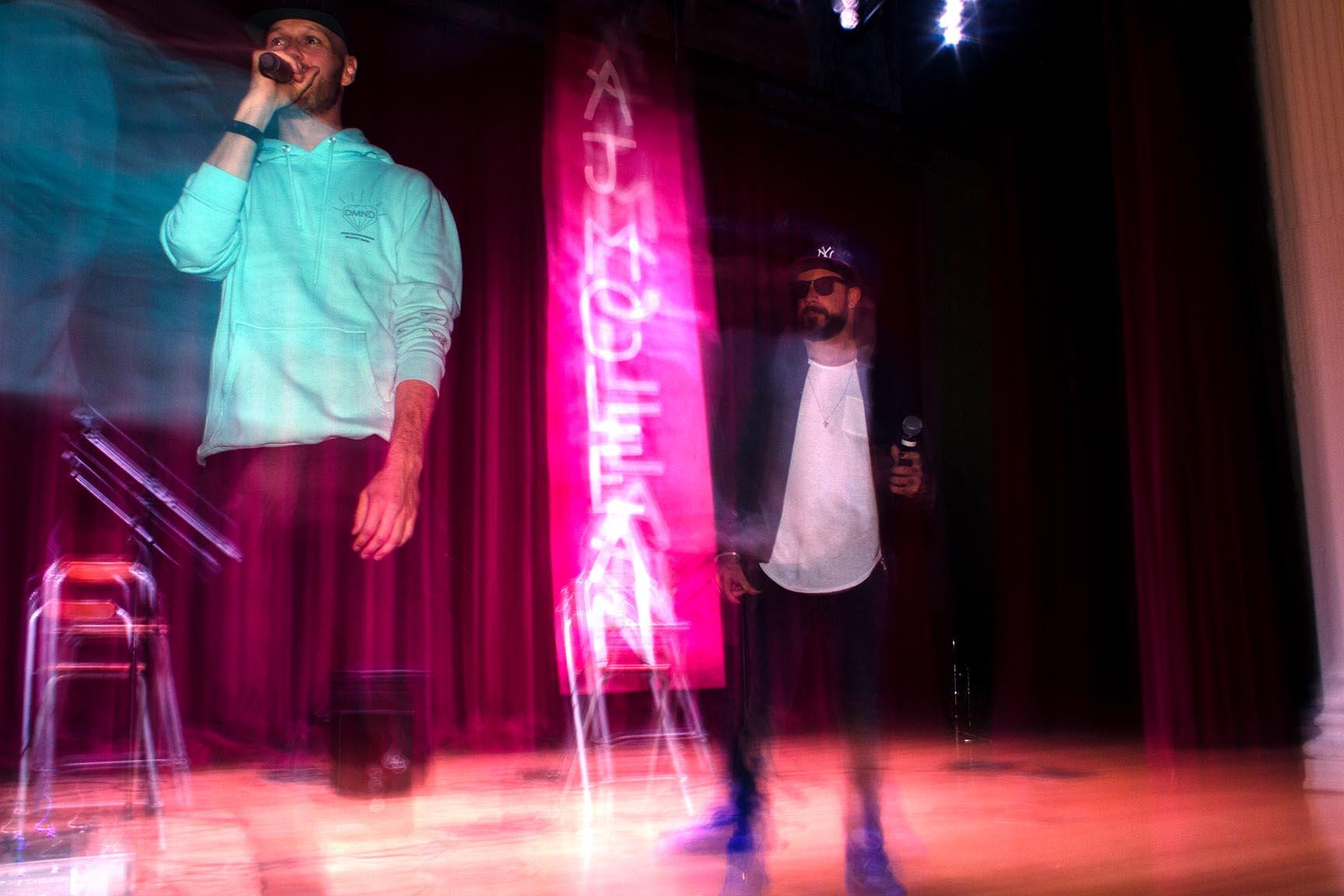 Music producer Jordan Omly and AJ McLean