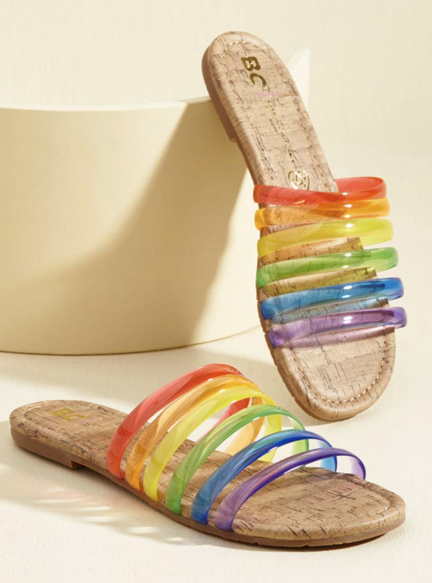 Rainbow Sandals - Modcloth, $40
