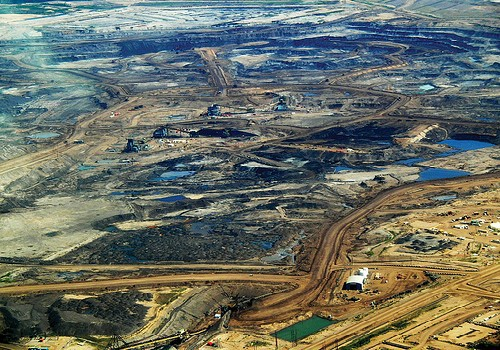 The new home for all the glitz and glamour of Tinseltown.  Tar Sands, Alberta  by Howl Arts Collective/ cc