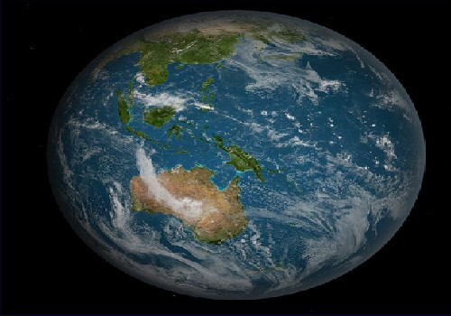 Scientists shocked to discover world is actually oval.  Earth Full South Pacific  by Bruce Irving/ cc