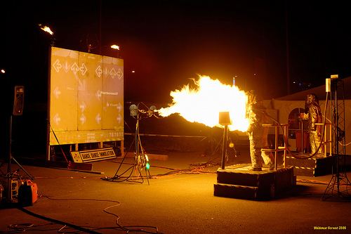 Taking video games way too seriously.  Dance Dance Immolation  by naturalturn/ cc