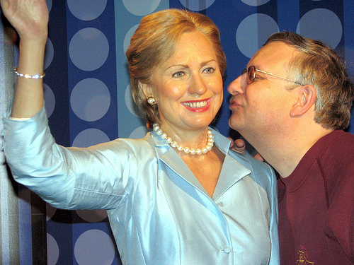 Mrs. Clinton and her intern.   Tussauds Hilary Clinton  by Beechwood Photography/ cc