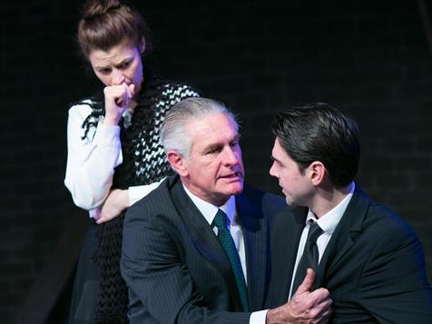 Alan Lovell, Graeme McRae and Beth Aubrey in  Coming To See Aunt Sophie.  Photo: Dan Blumenthal
