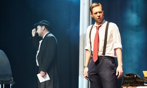 Craig Davidson (Stone) and Lachlan O'Brien (Stine) in  City of Angels.  Photography by Chloe Snaith and Darren Purbrick.