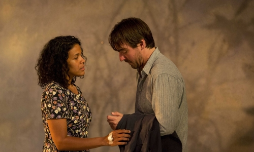 Zahra Newman (Anna) and Ewen Leslie (Ivanov) in  Ivanov . Photo by Brett Boardman.
