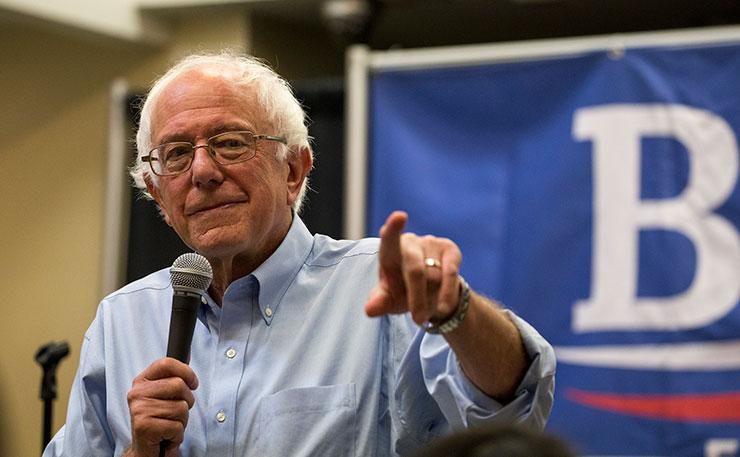 Democrats Presidential candidate, Bernie Sanders. Image: Phil Roeder, Flickr