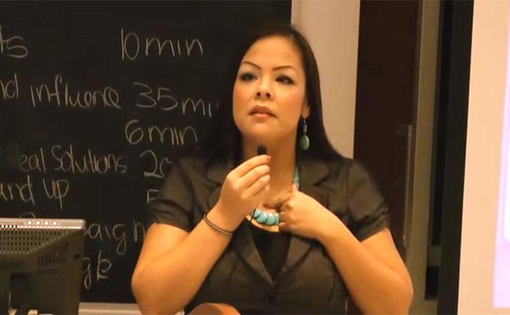 Crystal Lameman, Indigenous climate activist.