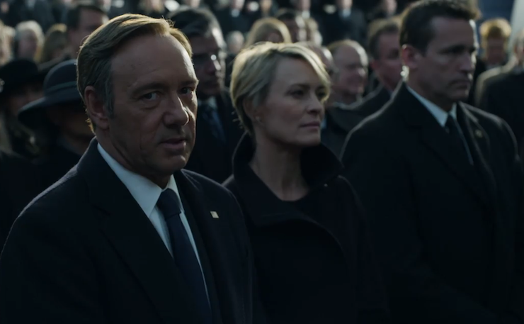 Frank Underwood, played by Kevin Spacey in the hit Netflix program House of Cards.