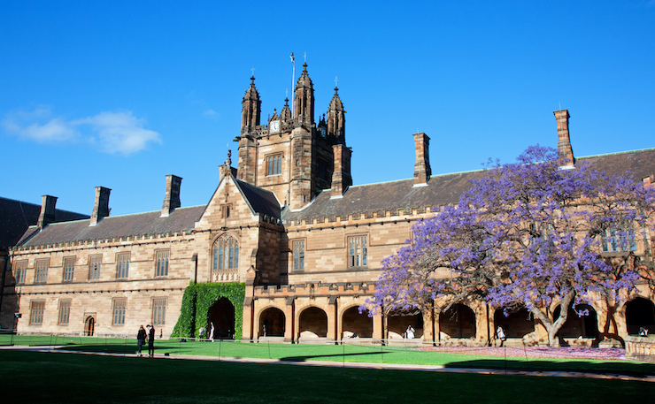 The University of Sydney's Quadrangle. (Image: Andrea Schaffer, Flickr).