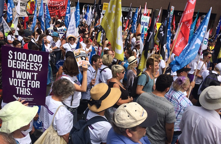 Unions NSW's National Day Of Action, 2015. Image: Thom Mitchell