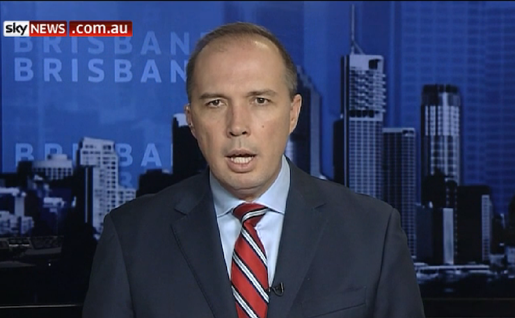 Minister for Immigration, Peter Dutton.