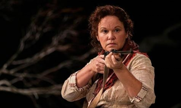 Leah Purcell as Molly in  The Drover's Wife . Photo by Brett Boardman.