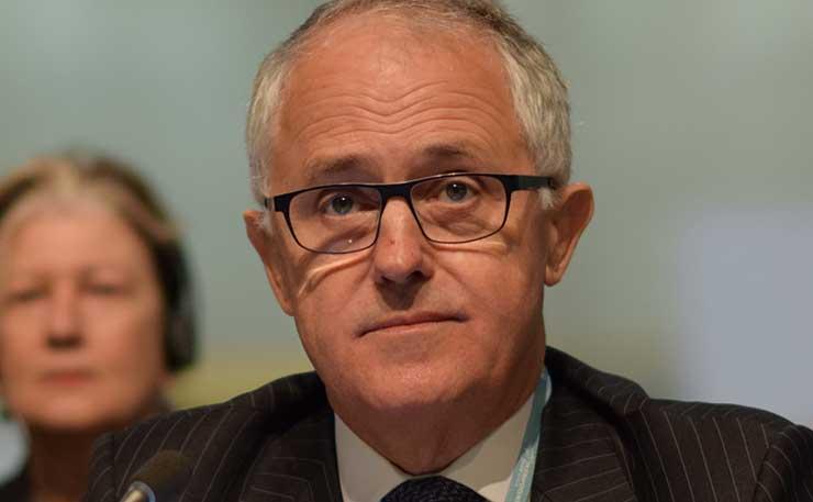 Former Australian Prime Minister Malcolm Turnbull