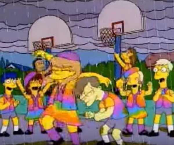 Screencap of The Simpsons on  Youtube