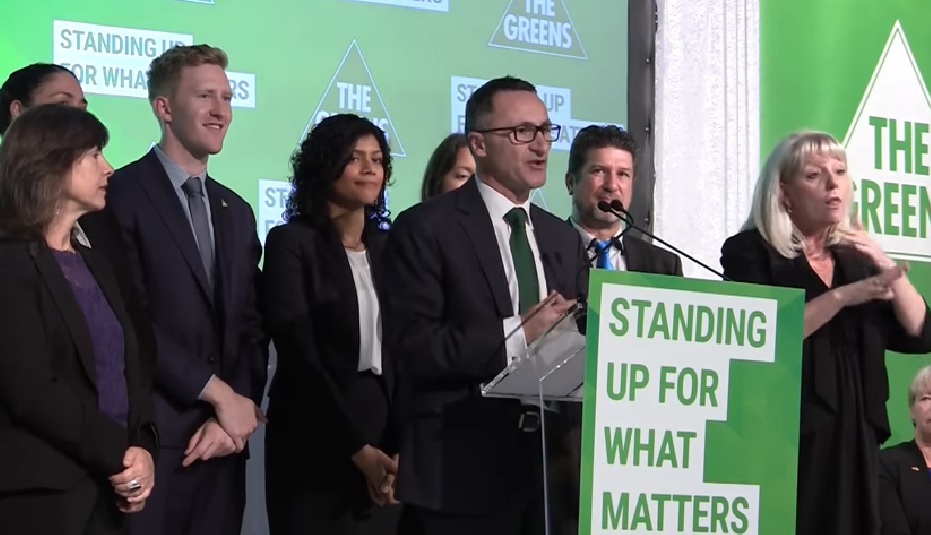 The Greens , pictured here trying to help the community deradicalise back in 2016.