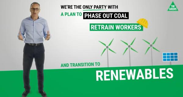 Screencap from  The Australian Greens