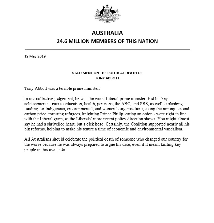 Statement On The Political Death Of Tony Abbott 1.jpg