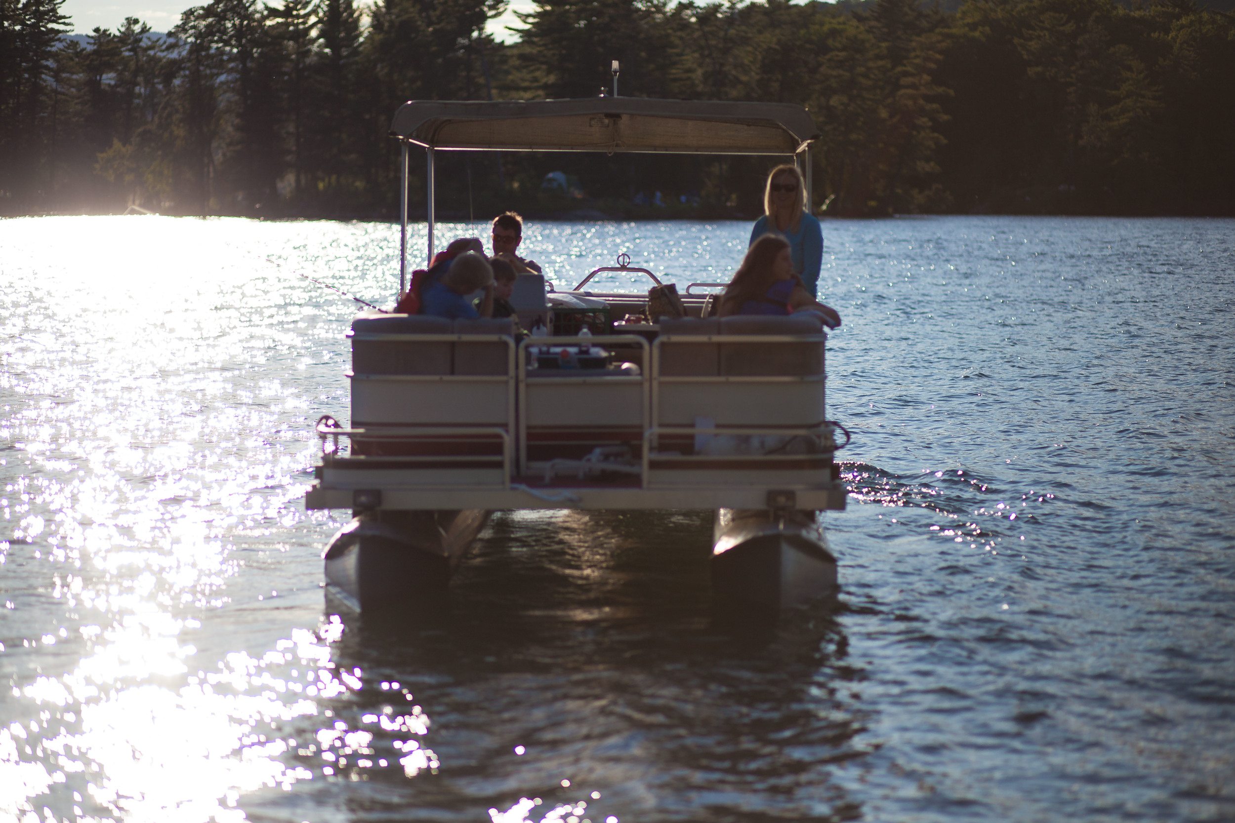 Pontoon Boat Visitors