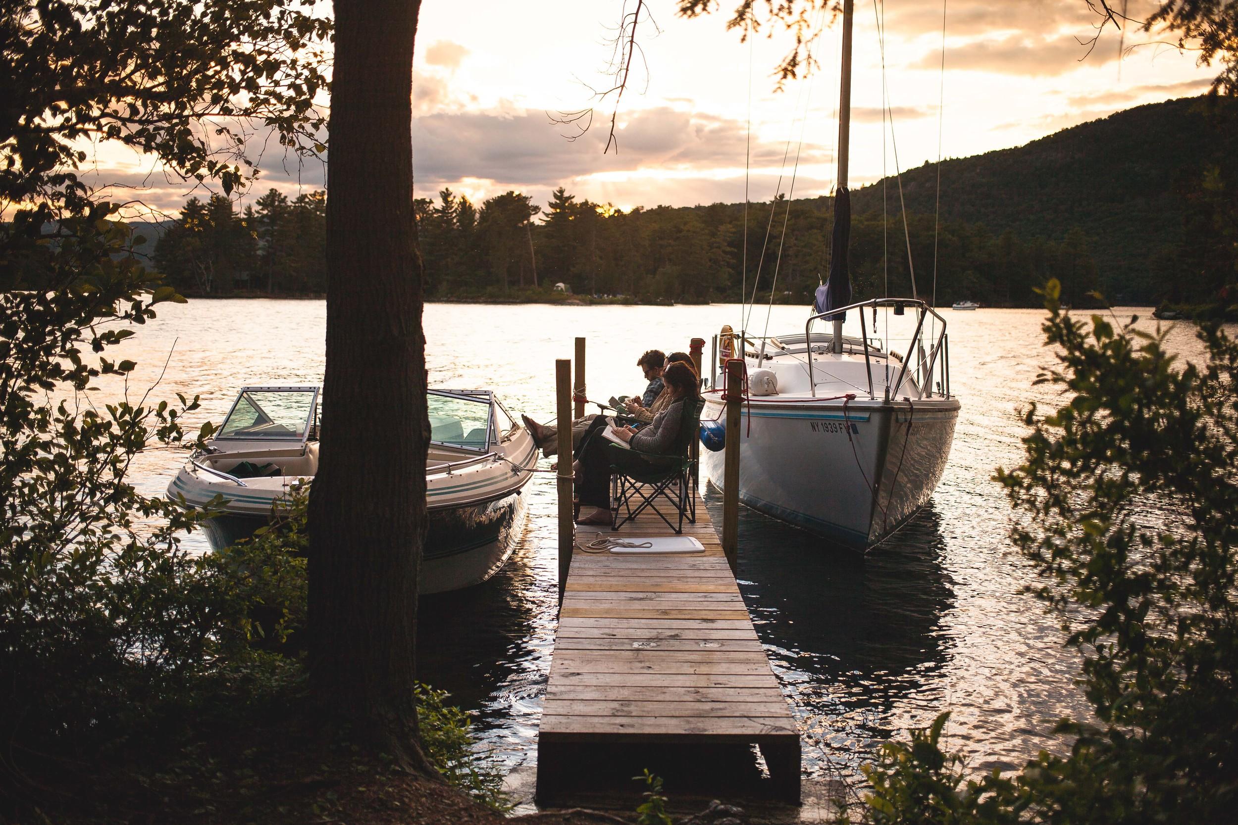 Sundown on Dock