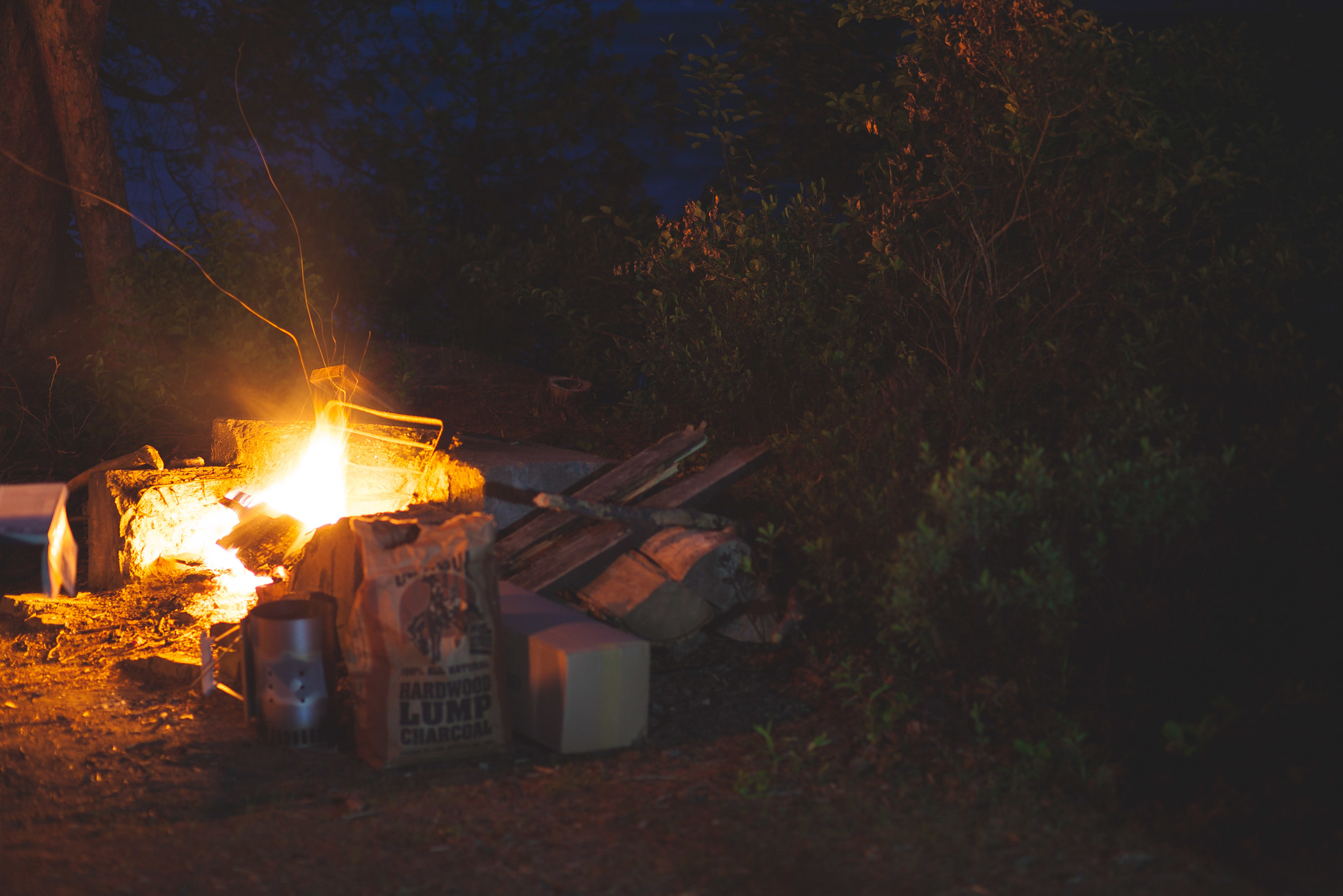 Late Night Camp Fire