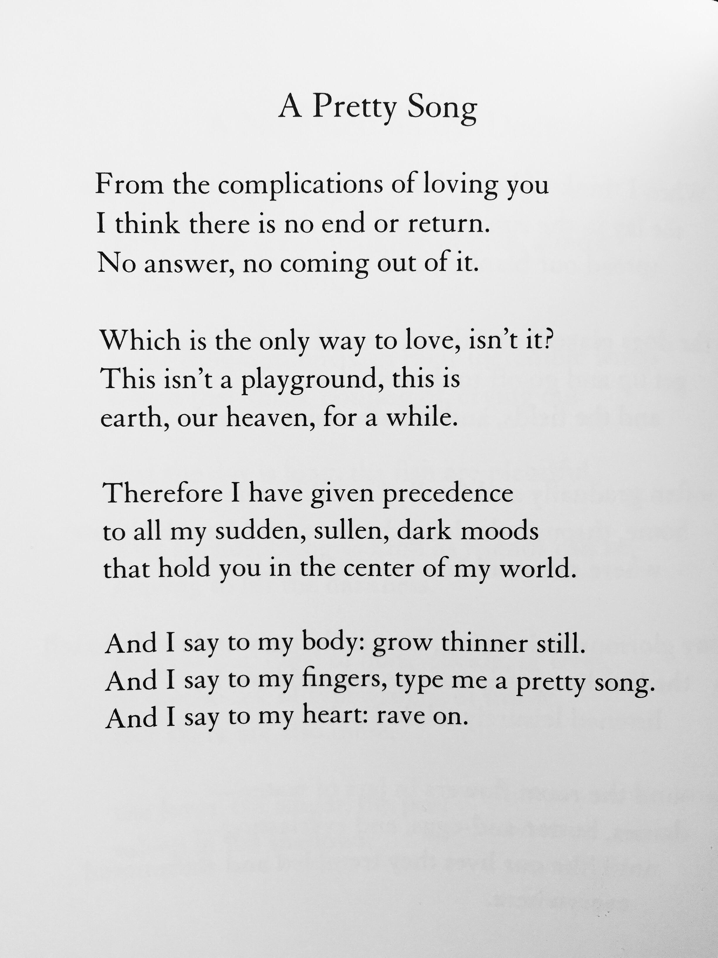 -- Mary Oliver