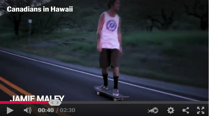 Watch Jamie in 'Canadians in Hawaii' by Concrete Magazine and Redbull.