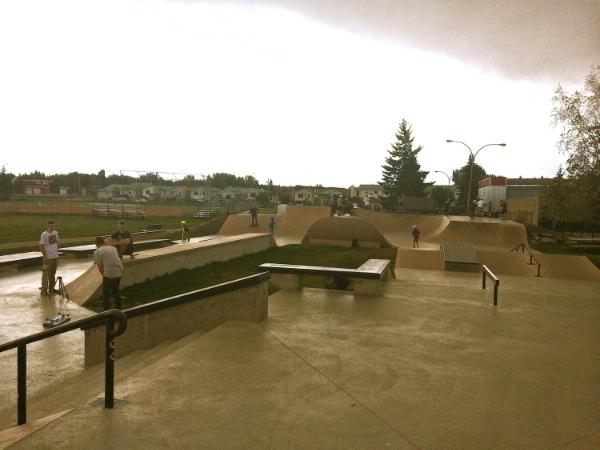 Sylvan Lake, AB as the rains came....
