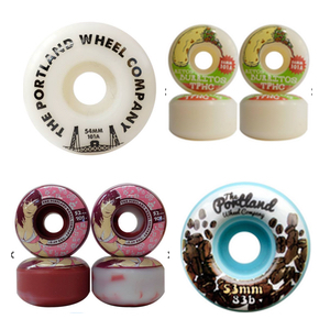 A few of the Portland Wheel Company products available in Canada through Platform Distribution